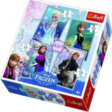 Puzzle Disney Frozen set 4 puzzle - Hello Kids